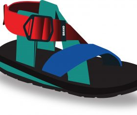 sandals summer vector design