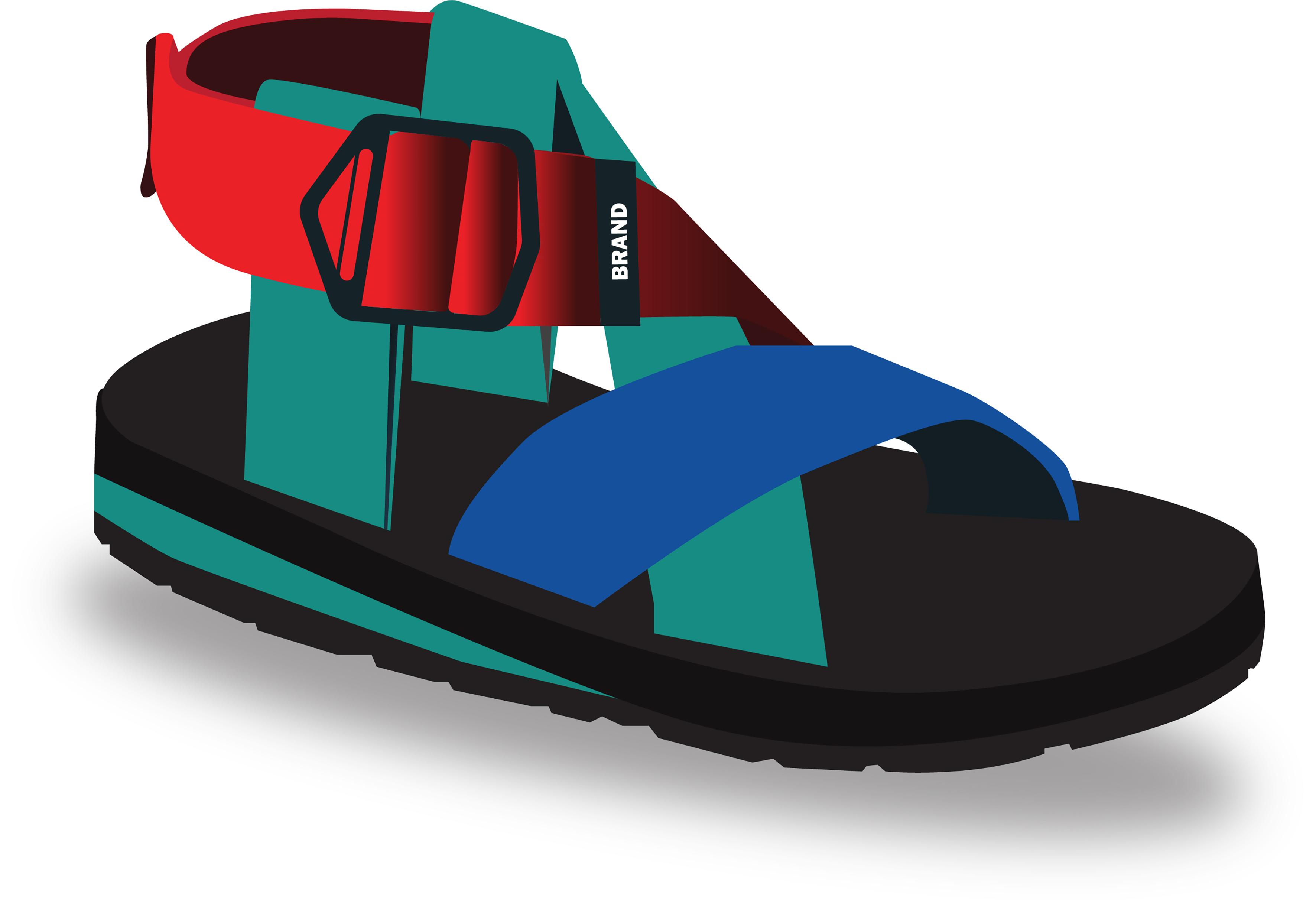 sandals summer vector design