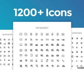 1200 line art icon vector