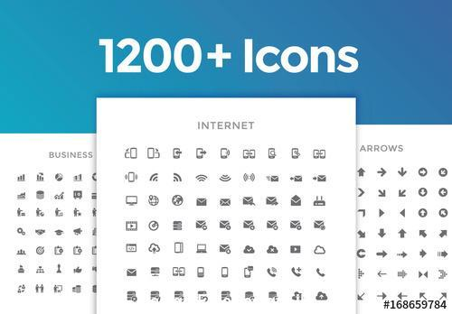 1200 line art icon vector
