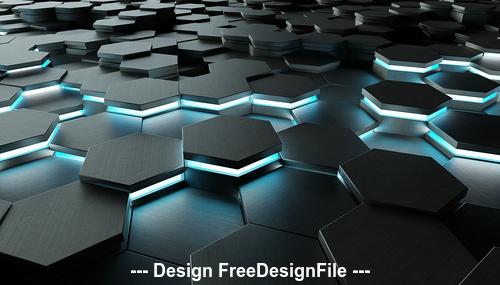 3D Tech Modern PSD Background Design