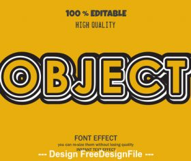 3d font effect style illustration vector