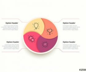 4 step infographic with colorful vector
