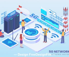 5g network technology vector concept