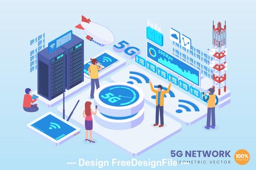 5g network technology vector concept