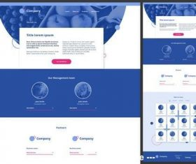 About us page website design vector