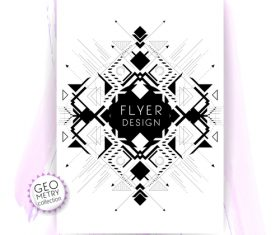 Abstract black and white lines flyer vector