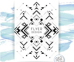 Abstract flyer vector