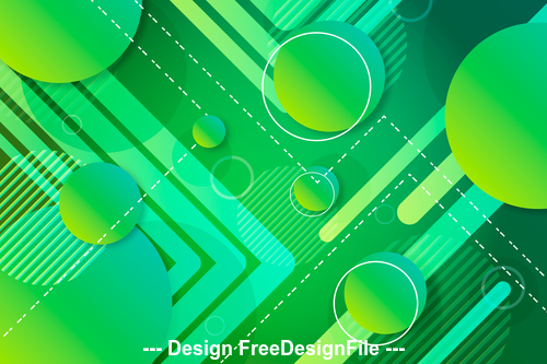 Abstract green geometric design background vector