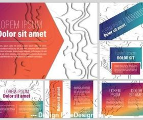 Abstract paper cutout presentation kit vector