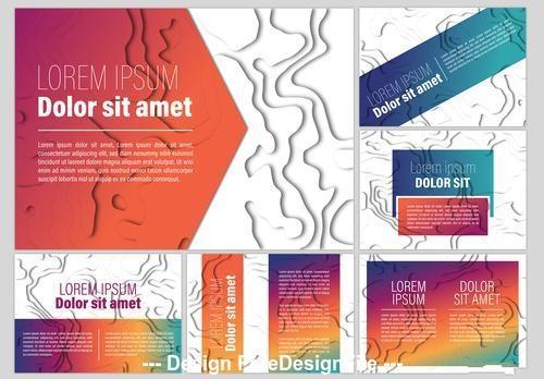 Abstract paper cutout presentation kit vector