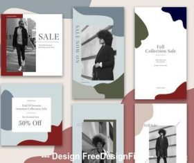 Abstract sutumn seasonal sales social vector