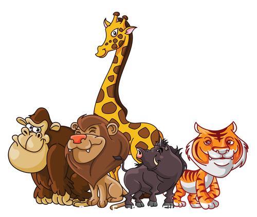Africa Animal happysafarianimal cartoon illustration vector