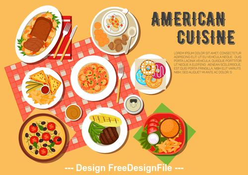 American food vector
