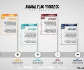 Annual flag infographic vector