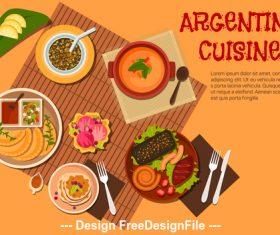 Argentine cuisine vector