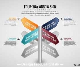 Arrow Sign Infographic vector