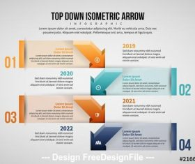 Arrow infographic layout vector