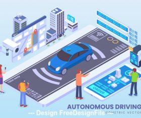 Autonomous driving vector concept