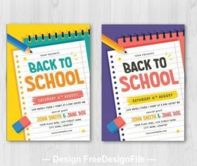 Back to school graphic flyer vector
