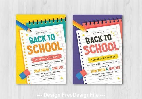 Back to school graphic flyer vector