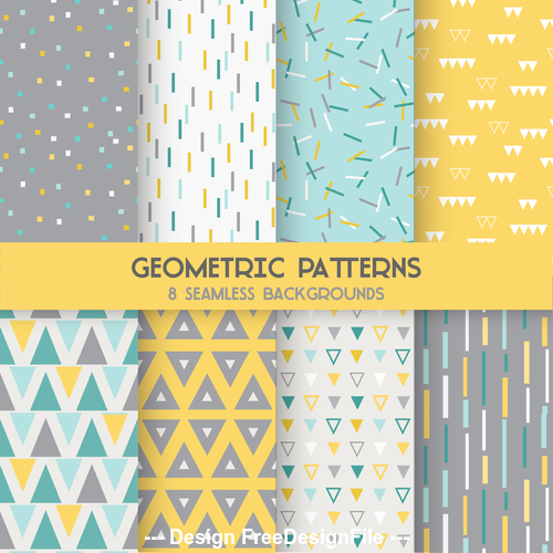 Background geometry seamless pattern vector