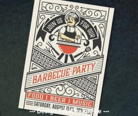 Barbecue party invite vector