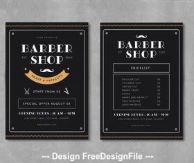 Barber shop flyer vector