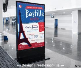Bastille day event poster vector
