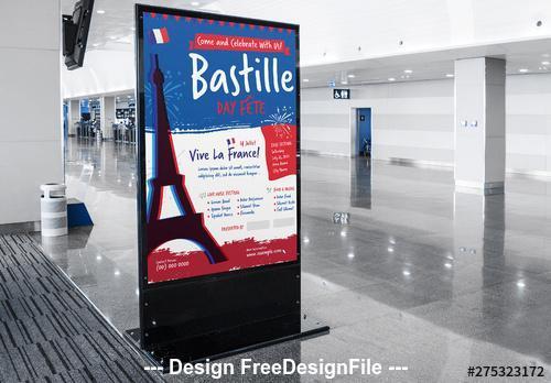Bastille day event poster vector