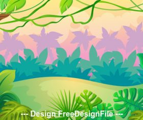 Beautiful landscape illustration vector
