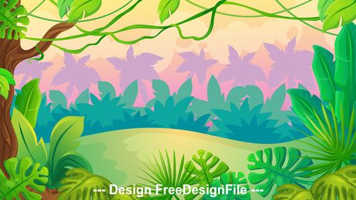 Beautiful landscape illustration vector