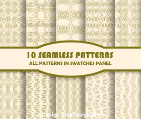 Beige lines seamless pattern vector