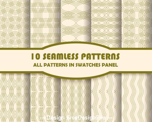 Beige lines seamless pattern vector