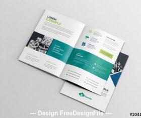 BiFold business brochure with diamond photo elements vector