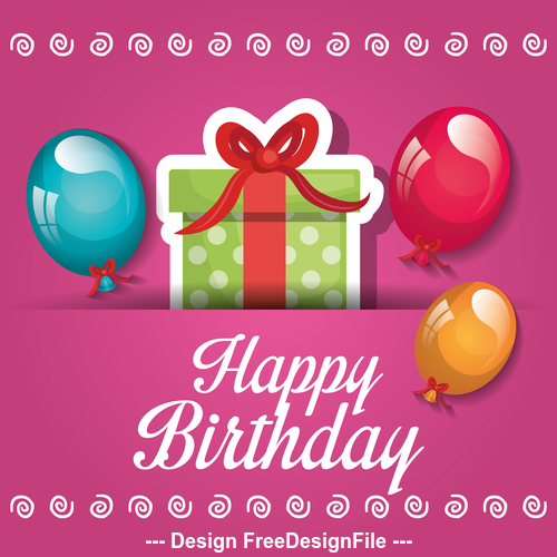 Birthday gift vector