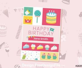 Birthday party flyer vector