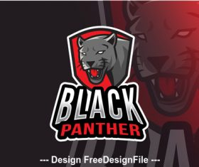 Black panther logo template vector