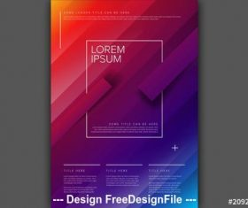 Blocky color gradient digital poster vector