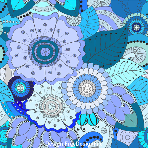 Blooming flower background pattern vector