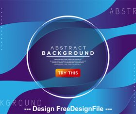 Blue abstract design background vector