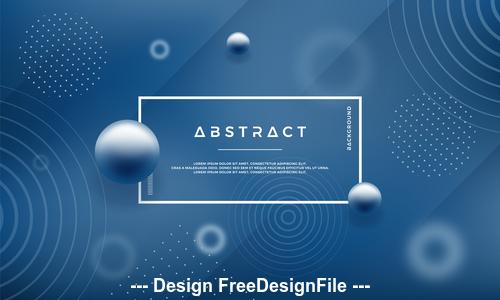 Blue background decorative element vector