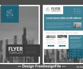 Blue business flyer vector