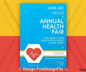 Blue health event poster vector