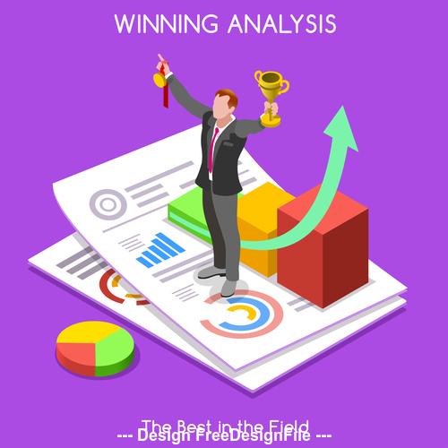 Breakthrough business performance vector