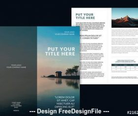 Brochure layout with blue vector