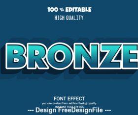 Bronze 3d font effect style illustration vector