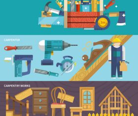 Building tools set vector