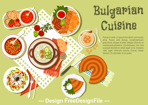 Bulgarian cuisine vector