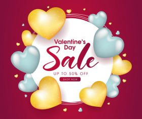 Business Valentines day promotion flyer vector